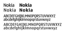 Nokia系列字体