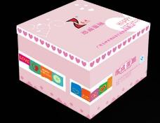 蛋糕盒 平面展开图图片