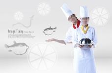 高清PSD分层素材高级厨师
