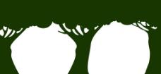 大树 剪影图片