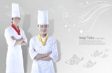 高清PSD分层素材美女厨师