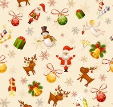 无缝圣诞背景图片