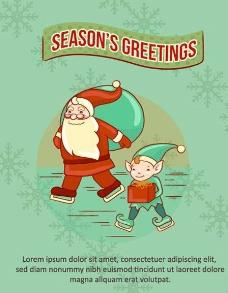 圣诞背景 圣诞节插画图片