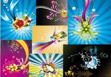 彩带缤纷背景图片