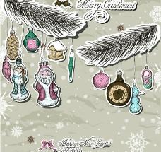 复古圣诞装饰品图片