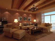 木纹客厅素材