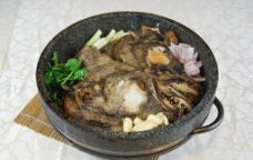 干锅鲽鱼头图片
