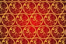 红色花纹图片