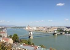 布达佩斯链锁桥图片