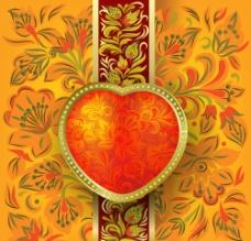 爱心古典花纹花边图片