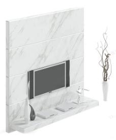 背景墙模型素材