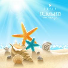 夏日沙滩风景