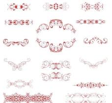 花纹图标欧式花纹标签图片