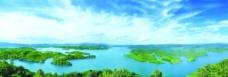 新余市仙女湖全景图图片