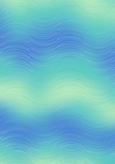 蓝绿渐变线形底纹花纹素材