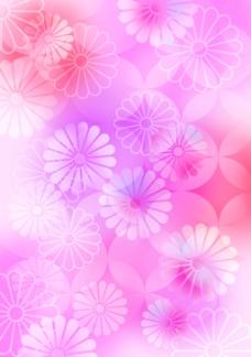 唯美菊花底纹花纹素材