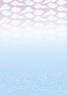 白云组合点点底纹花纹素材