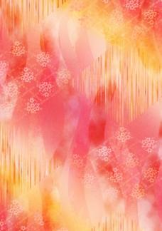 红黄相嵌花儿底纹花纹素材