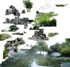 假山水景图片