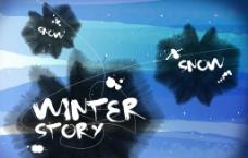 冬季艺术绘画图片