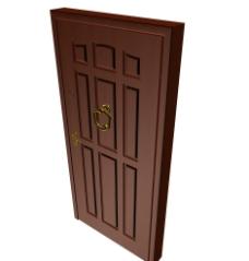 门模型图片