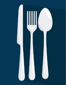 西餐餐具刀叉勺子图片