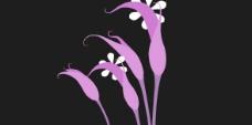 flash搖曳的粉色喇叭花