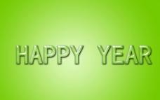 绿色水晶字happy