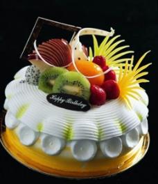 水果奶油巧克力蛋糕素材