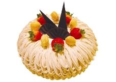 西式水果奶油蛋糕素材