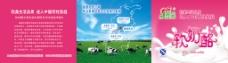 牛奶产品折页封面