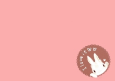 可爱兔子粉色背景