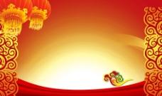 红色喜庆背景图