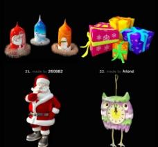 新年祝福 礼物模型图片