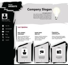 网站模板网页模板设计图片