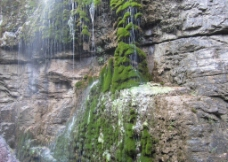 瀑布一点绿图片