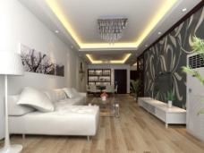白色简约客厅