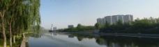 潍坊市虞河景观全景!图片