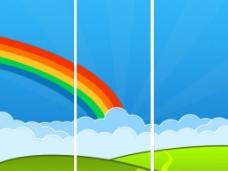 移门彩虹图片