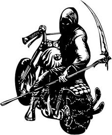 亡灵骑士矢量图