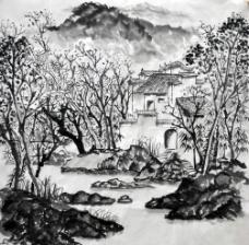 山水国画创作图片
