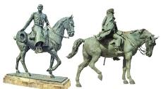 外国马匹雕塑图片