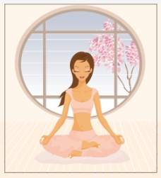 练瑜伽的美女