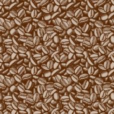 手绘咖啡豆背景矢量素材