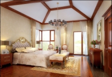 木头豪华卧室