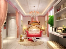 豪华粉色卧室