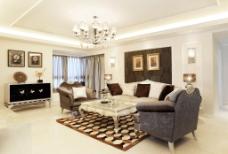 白色豪华客厅