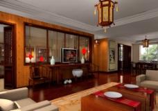 中国式客厅效果图