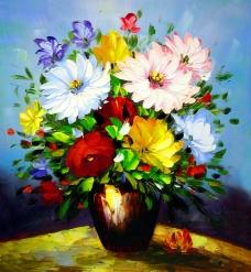 油画鲜花图片