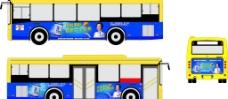 六个核桃公交车广告图片